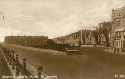 Grosvenor Grdns, West Marina looking west