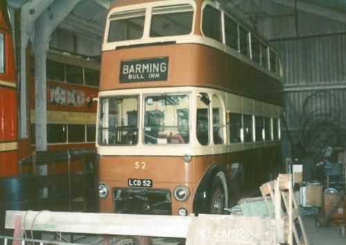 Maidstone 52 ex Brighton built 1950, 1988