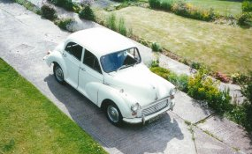 Morris minor RCD147H from above 13 Dane Crt Cl Bex 1997
