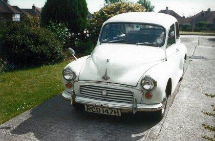 Morris minor RCD147H front, 13 Danecourt Cl Bex 1997