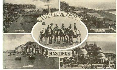 Multi-view Postcard Hastings used 9-9-1952