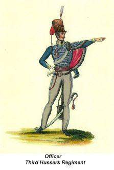 Officer - Third Hussars Regiment