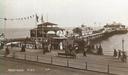 Pier from White Rock looking south-east pc 5-5-1913