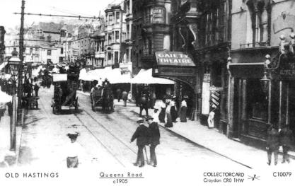 Queens Rd looking north c1905 with horse bus