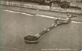 St Leonard's pier aerial view looking north-west pre-war