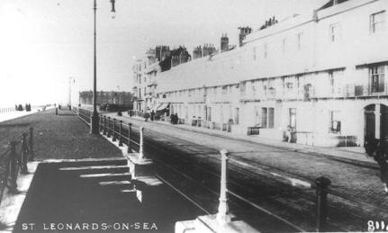 St Leonards seafront west end, cobbled road surface