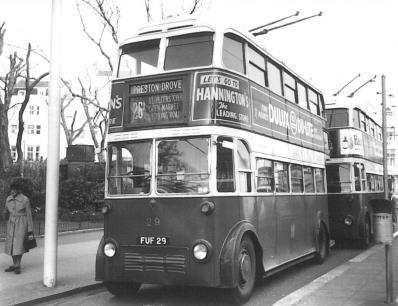 Trolley 29 AEC service 26A