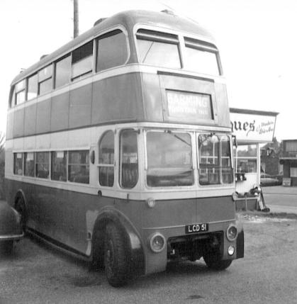 Trolley 51 LCD51 front & offside @ Bexhill West 29-4-1967