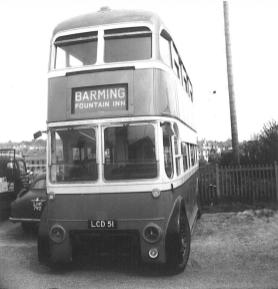 Trolley 51 LCD51 front view @ Bexhill West 29-4-1967