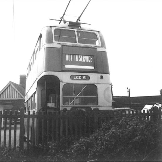Trolley 51 LCD51 rear view @ Bexhill West 29-4-1967