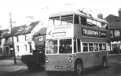 Trolley 55 Barming serv in town