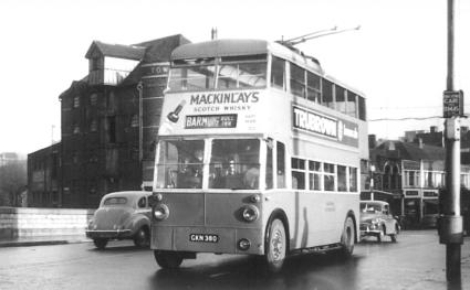 Trolley 55 Barming serv on Medway bridge
