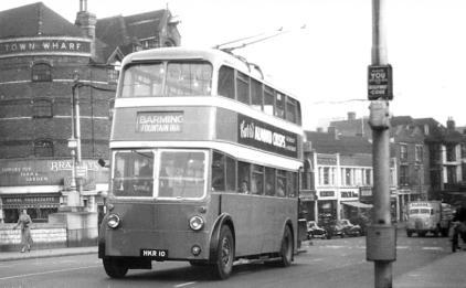Trolley 71 Barming serv on Medway bridge