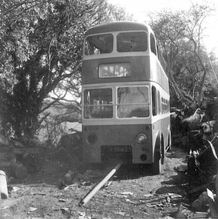 Trolley GKP512 being scrapped 1, 28-4-1967