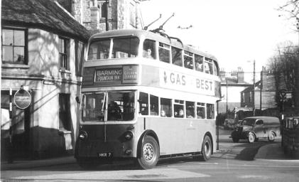 Trolley HKR7 Barming serv in town