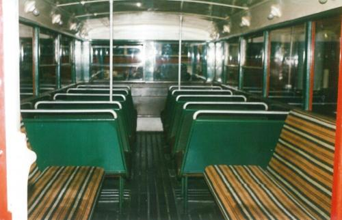 interior lower deck STL type preserved bus