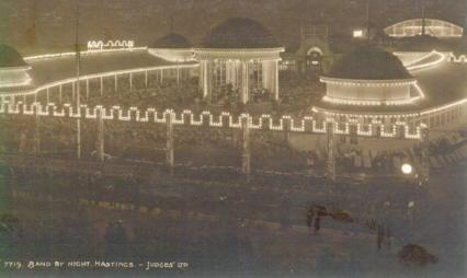 pier bandstand at night 6-1923
