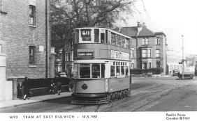 101 route 60 to Dulwich Library @ East Dulwich 10-5-1951
