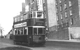 101 route 84 to Peckham Rye on Dog Kennel Hill, post-war