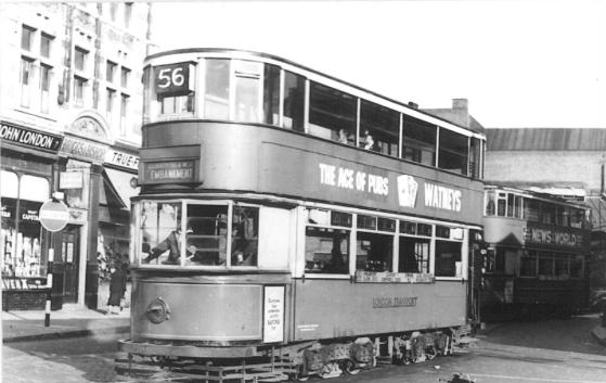 106 route 56 to Embankment @ Elephant, post-war