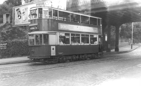 107 route 58 to Blackwall Tnl @ Lordship Lne, post-war