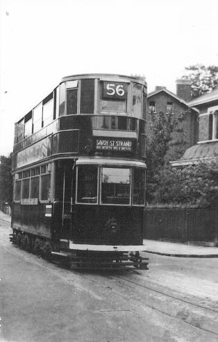 116 route 56 to Strand @ Peckham Rye, war-time livery