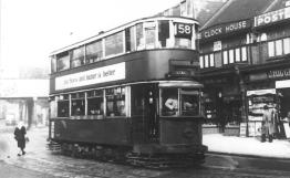 116 route 58 to Blackwall Tnl @ East Dulwich, post-war