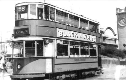 131 route 58 to Blackwall Tnl @ Hornimans, pre-war