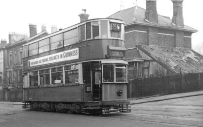 147 route 58 @ Peckham Rye terminus, post-war