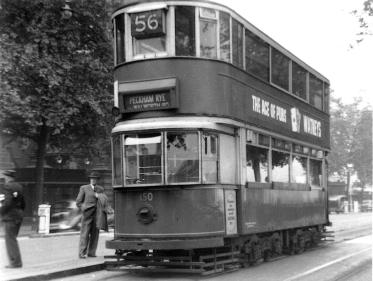 150 route 56 to Peckham Rye, 5-10-1951