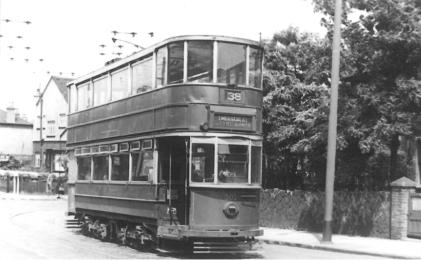 302 route 38 to Embankment @ Bostall Hill post-war