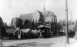 32 by St Matthews Church, Silverhill heading north