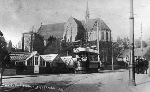 32 northbound by St Matthews Church, to Silverhill