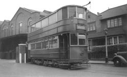 330 staff car outside CHarlton Works 14-4-1950