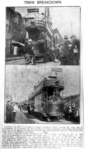 4 breakdown newspaper article 27-7-1908