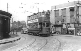 87 route 36 to Abbey Wood in Woolwich High St, post-war