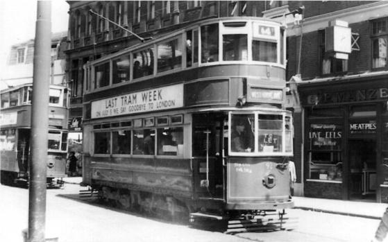 92 route 44 last tram week 7-1952