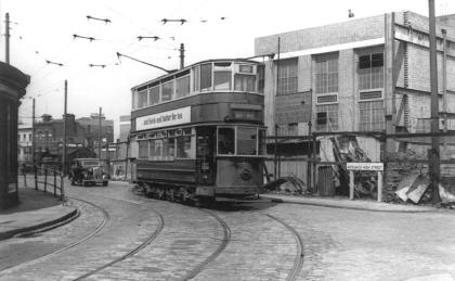 95 route 38 to Abbey Wood in Woolwich High St, post-war