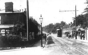 Battle Rd, Hollington, tram approaching