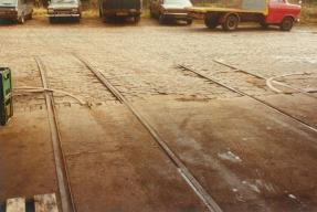 Bulverhythe Depot track in doorway [2] 2-3-1984