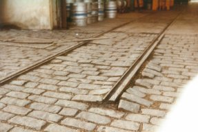 Bulverhythe Depot track & setts detail 2-3-1984