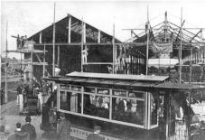 Delivering tramcar, Silverhill, building depot c1905