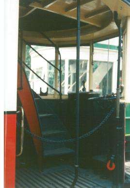 Platform & controller etc preserved London tram
