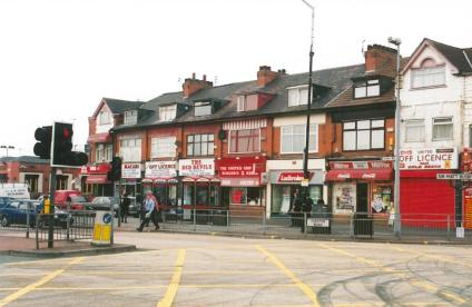 Shops in Chester Rd nr Old Trafford