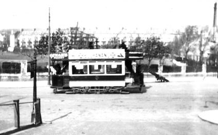 Side view tram to Ore passing Hastings Cricket Grnd Easter 1921