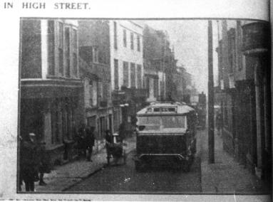Single-decker trolley, High St H&StLeo Obs 9-3-1929