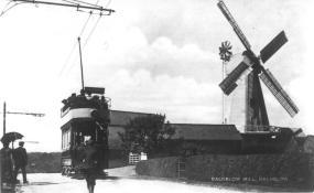 Tram on circular route westwards, Baldslow Mill