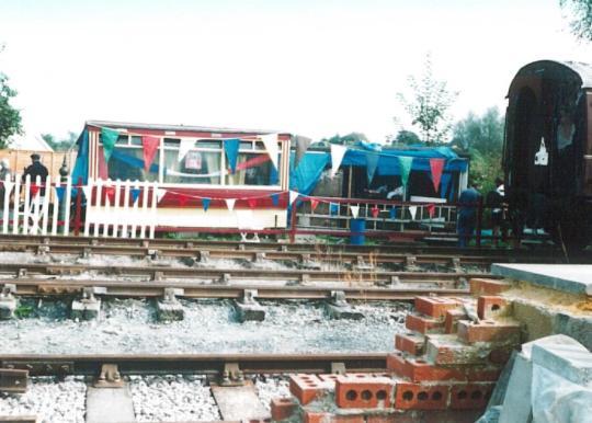 Tramcar body part restored, Robertsbridge goods yard