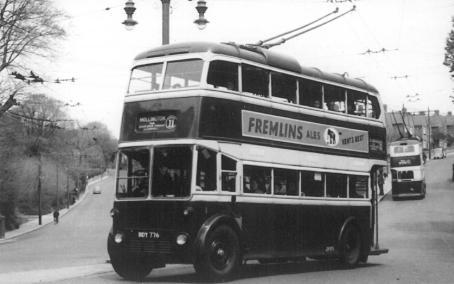 Trolley 1 BDY776 serv 11 Old London Rd-Harold Rd post-war