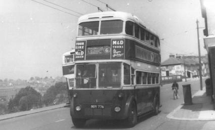 Trolley 1 BDY776 serv 6 to Hollington, Ore area c1958